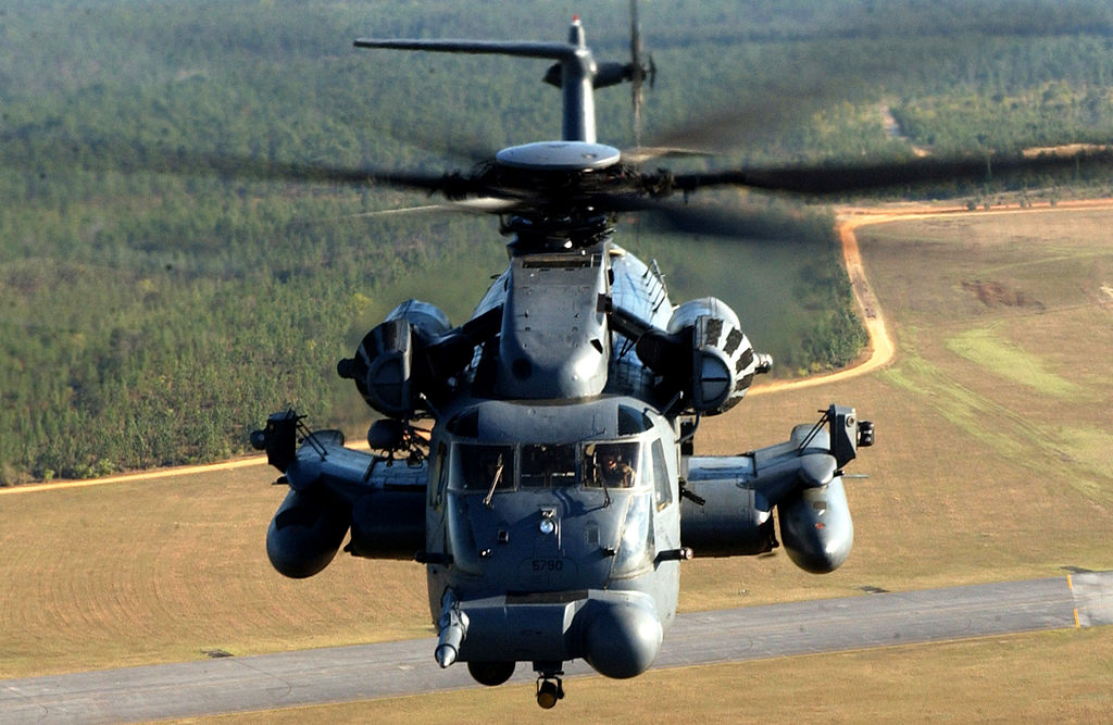 MH-53 of the  20th Special Operations Squadron flying over Hurlburt Field, Fla,