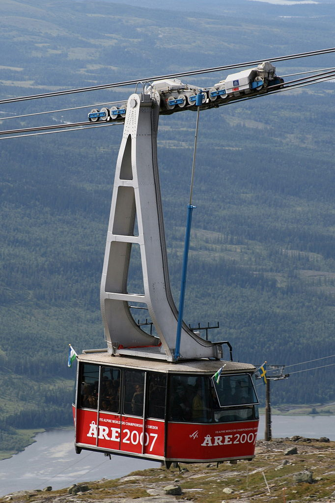 The cable car in Åre