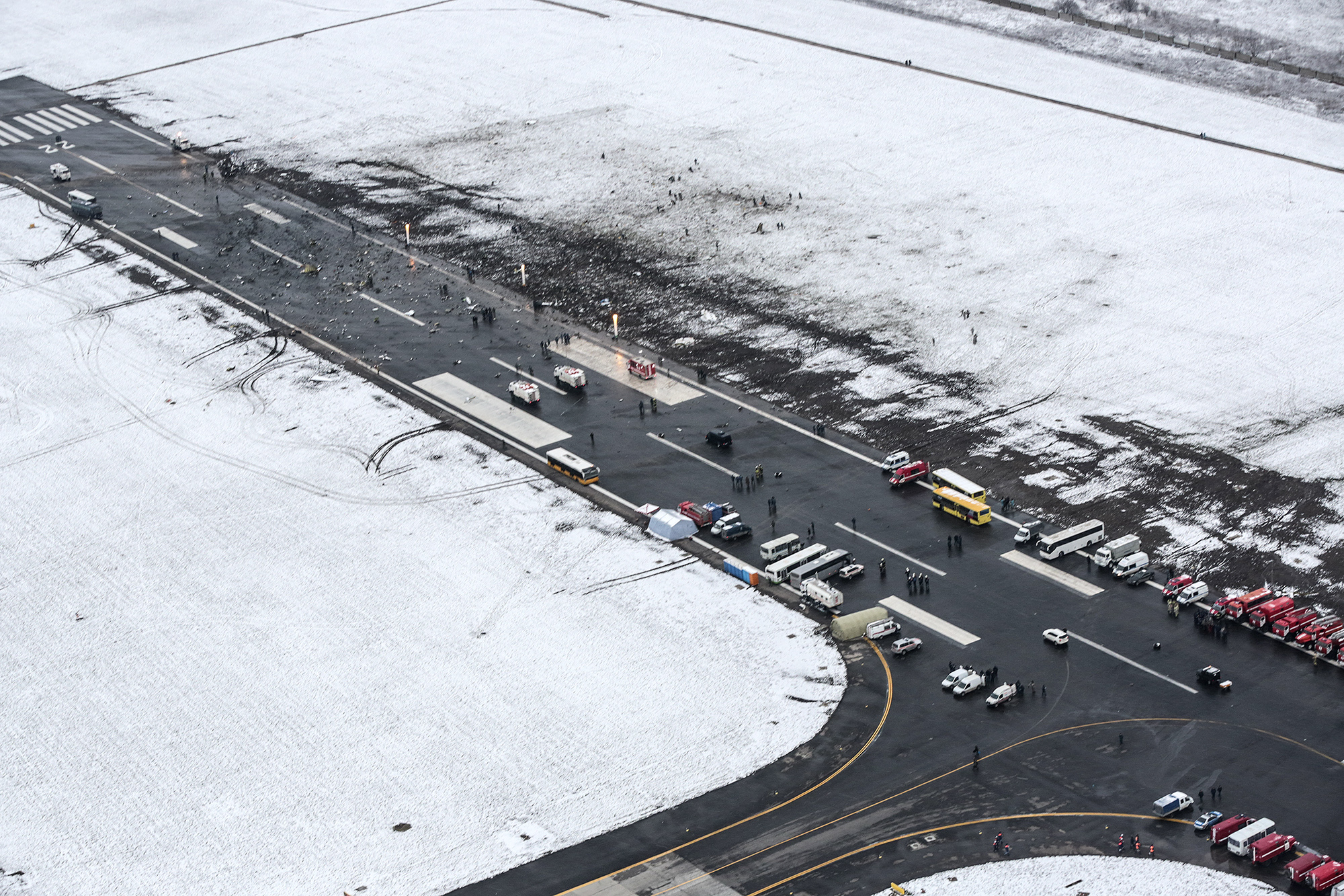 The crash site of Flydubai Flight 981