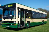 Preserved Maidstone & District bus 3043 (reg. E887 KYW), pictured at the M&D 100 rally on the Kent County Showground in Detling. New to Grey-Green in 1987 (as their No. 887) and used on London bus routes, it came to M&D in May 1996 as part of a batch transfer within Cowie Group. It stayed into the Arriva era, eventually joining the training fleet, before being sold into preservation. It's been preserved in the short lived M&D livery adopted in 1997 just before their rebranding as Arriva, although 3043 never actually wore it.