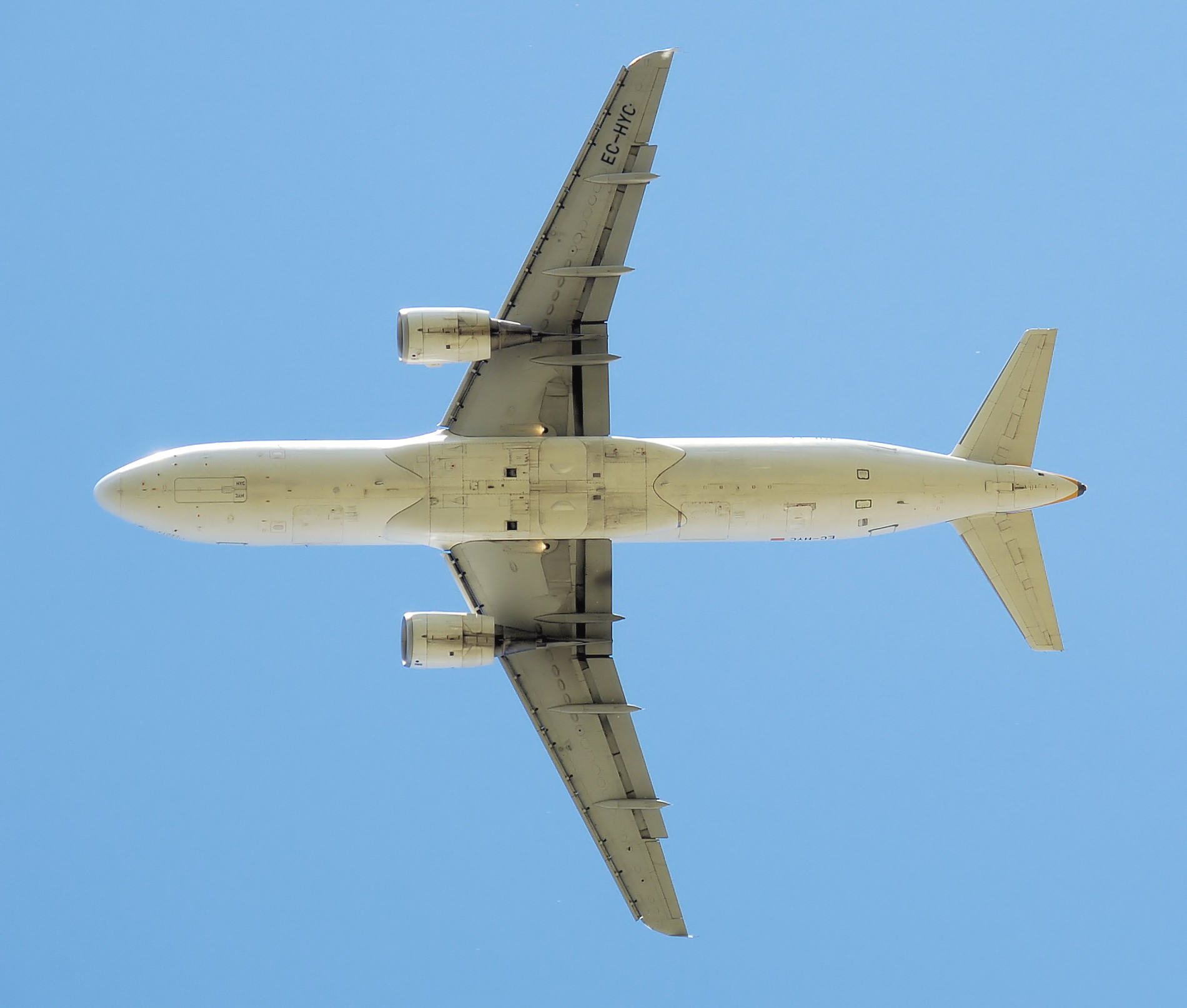 Planform view of an Iberia ((Airbus)) A320-200