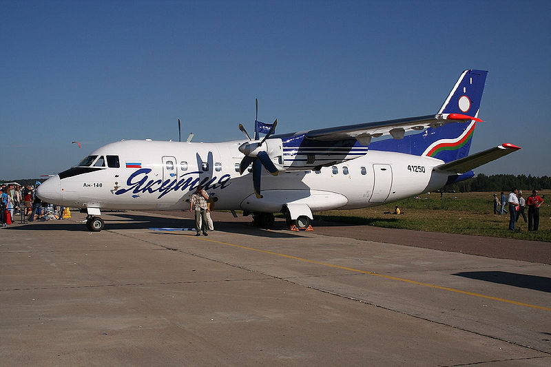Antonov An-140 in Yakutia Airlines livery