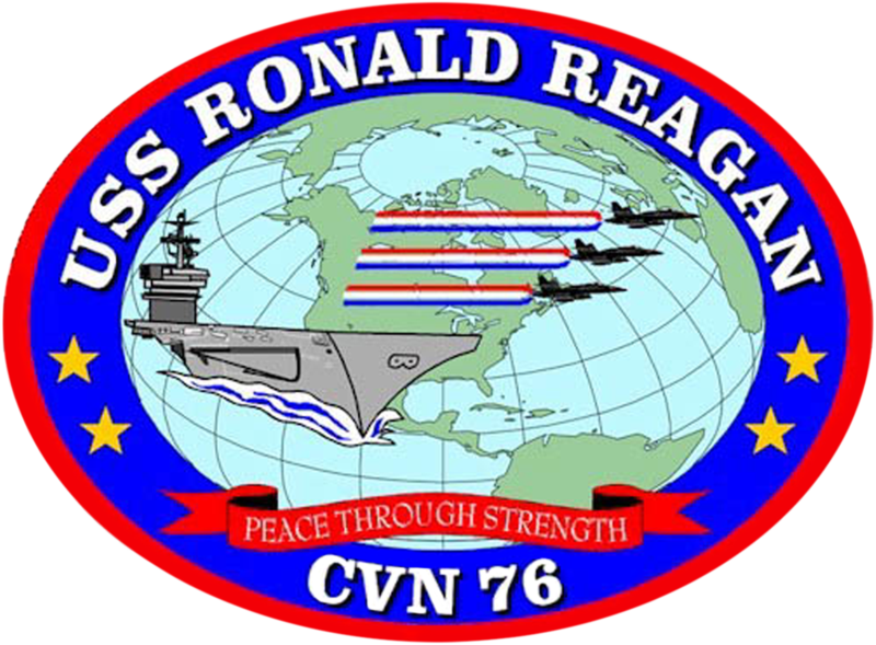 USS Ronald Reagan badge