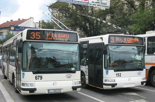 This image of a Romanian public transport vehicle is in the public domain because it is from the STFP.net public transport database, which specifies that all of its photos are can be used for any purpose without any limitation or restriction, and are released in the public domain. This applies worldwide.