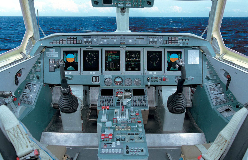 The cockpit of the Beriev Be-200