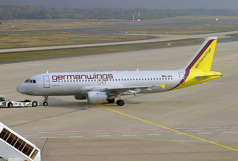 The aircraft involved in the accident of Germanwings  Flight 9525 as depicted in October 2003