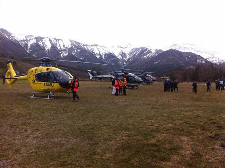 Search and rescue operation underway for Germanwings Flight 9525. Photo by French Defense ministry